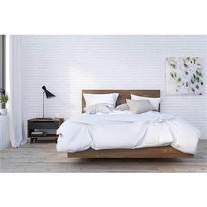 Nexera Barista 4 Piece Truffle and Black Queen Bedroom Set