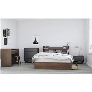 Nexera Cartel 5 Piece Walnut Queen Bedroom Set