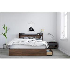 Nexera Cartel 3 Piece Walnut Queen Bedroom Set