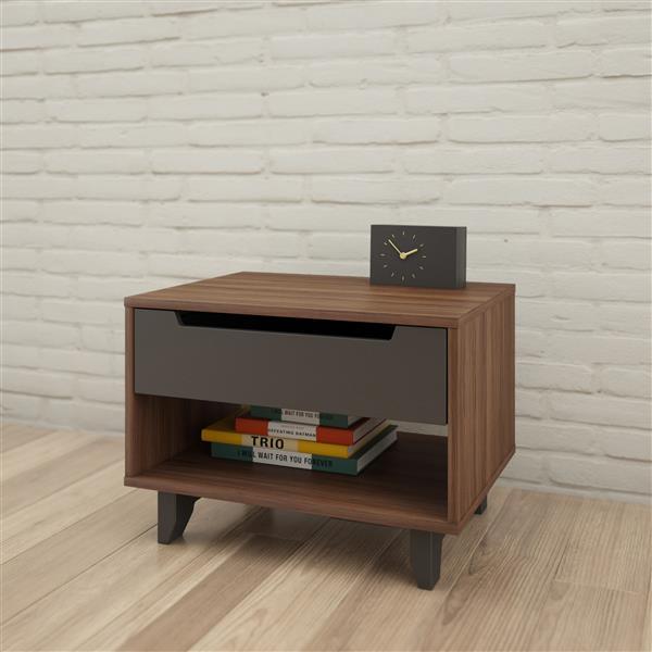 Nexera Cartel 3 Piece Walnut Full Bedroom Set