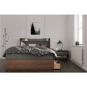 Nexera Cartel 3 Piece Walnut Full Bedroom Set