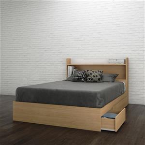Ens. de chambre à coucher Nomad double, 2 mcx, érable