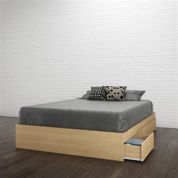 Nexera Nomad 3 Piece Maple and White Full Bedroom Set