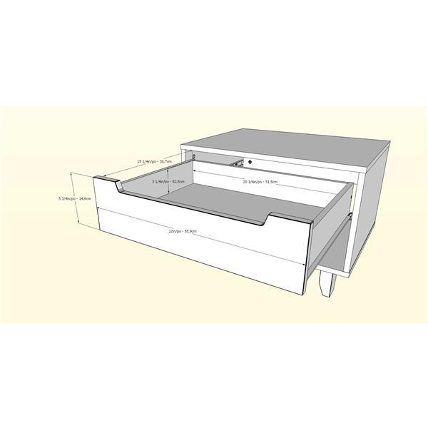 Nexera Aura 4 Piece White Queen Bedroom Set