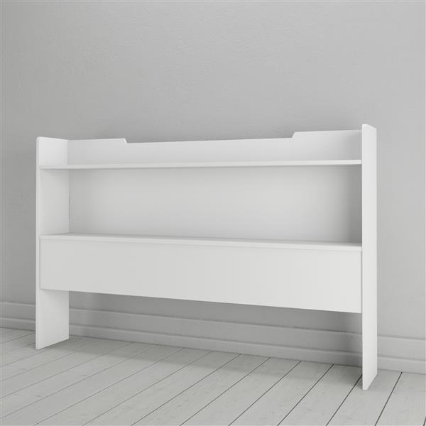 Nexera 2 Piece White Queen Storage Bedroom Set