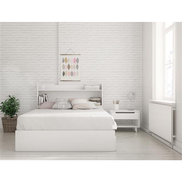 Nexera Aura 3 Piece White Full Bedroom Set