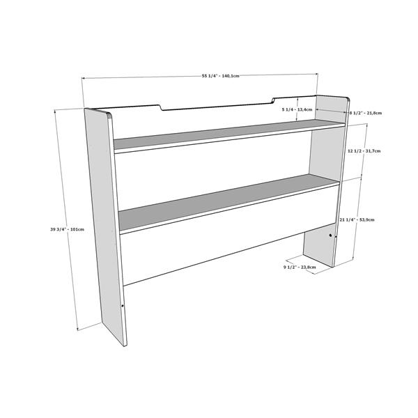 Nexera Aura 4 Piece White Full Bedroom Set