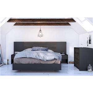 Nexera Opaci-T 6 Piece Black Queen Bedroom Set