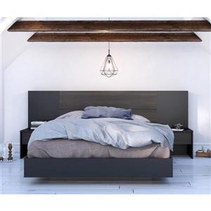 Ens. de chambre à coucher Opaci-T grand lit, 2 mcx, blanc