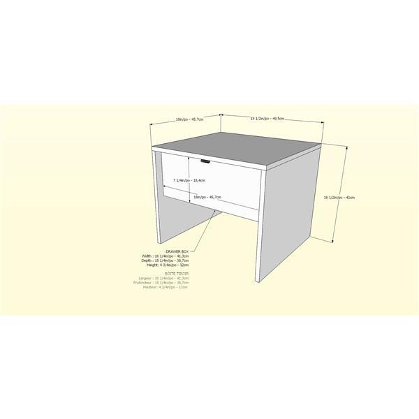 Nexera Opaci-T 6 Piece Black Full Bedroom Set