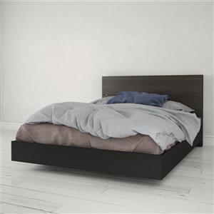 Ens. de chambre à coucher Nexera grand lit, 2 mcx, noir