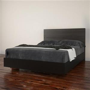 Ens. de chambre à coucher Nexera double, 2 mcx, noir