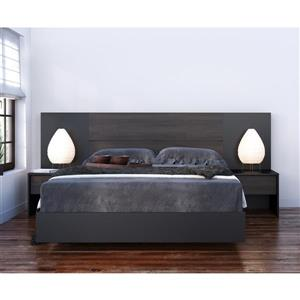 Nexera Opaci-T 5 Piece Black Full Bedroom Set