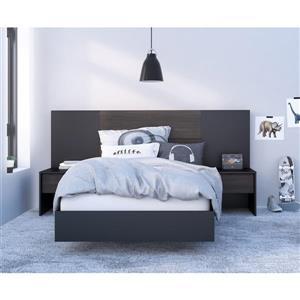 Ens. de chambre à coucher Opaci-T simple, 5 mcx, noir