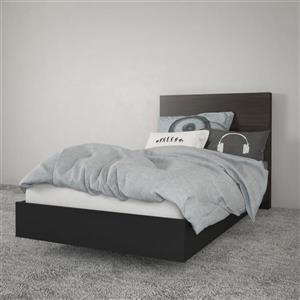 Nexera 2 Piece Black Twin Bedroom Set