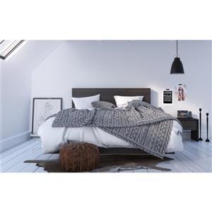 Ens. de chambre à coucher Veloci-T grand lit, 3 mcx, noir