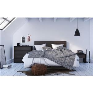 Ens. de chambre à coucher Veloci-T grand lit, 4 mcx, noir
