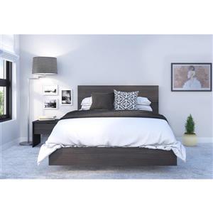 Ens. de chambre à coucher Veloci-T double, 3 mcx, noir
