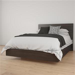 Ens. de chambre à coucher Nexera double, 2 mcx, ébène