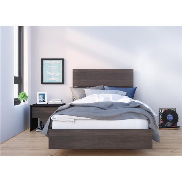 Nexera Veloci-T 3 Piece Black Twin Bedroom Set