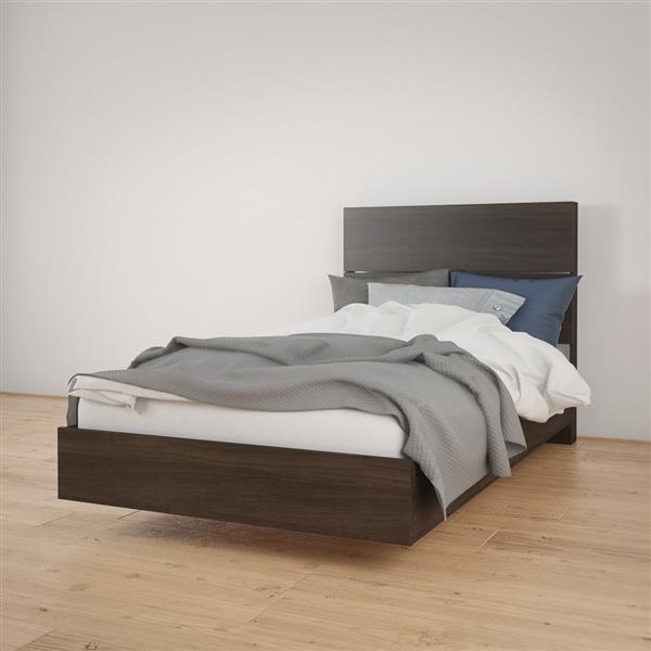 Ens. de chambre à coucher Nexera simple, 2 mcx, ébène