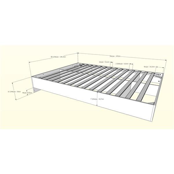 Nexera Celebri-T 5- Piece White/Walnut Full Bedroom Set