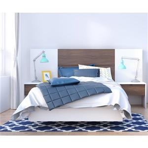 Nexera Celebri-T 5- Piece White/Walnut Twin Bedroom Set