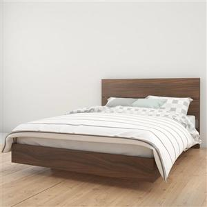 Nexera 2 Piece Walnut Queen Bedroom Set