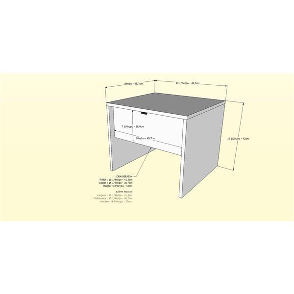 Nexera Identi-T 3 Piece White and Walnut Queen Bedroom Set