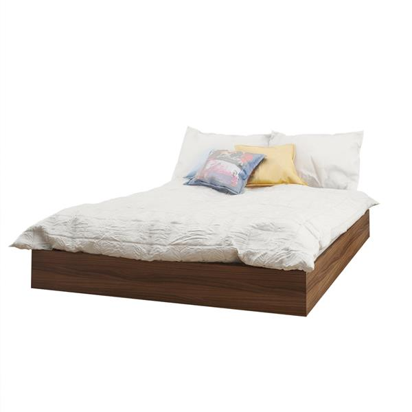 Nexera Identi-T 4 Piece White and Walnut Full Bedroom Set