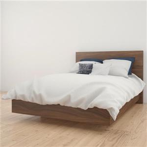 Nexera 2 Piece Walnut Full Bedroom Set