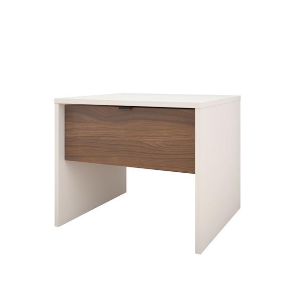 Nexera Identi-T 3 Piece White and Walnut Twin Bedroom Set