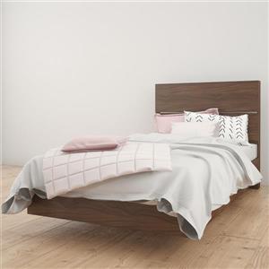 Nexera 2 Piece Walnut Twin Bedroom Set