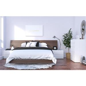 Denali 5 Piece Walnut and White Queen Bedroom Set