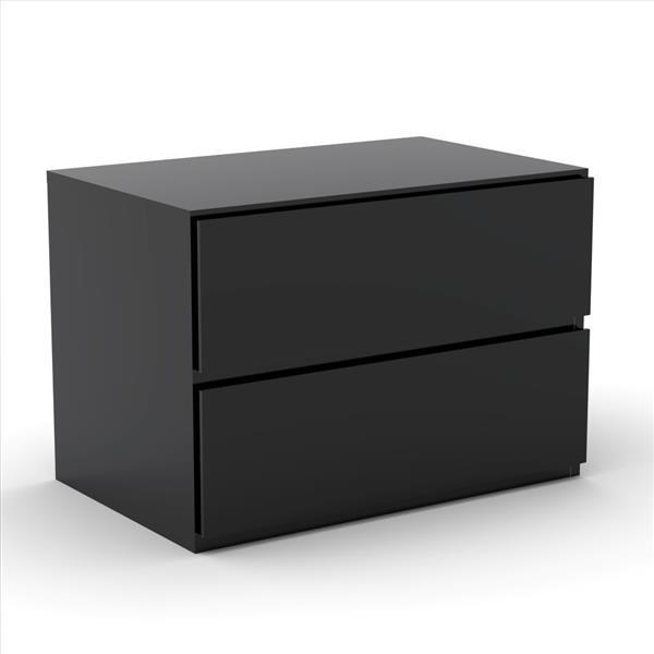 Nexera Sonoma 4 Piece Walnut and Black Full Bedroom Set