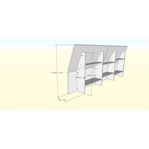 Nexera Denali 4 Piece Walnut and White Queen Bedroom Set
