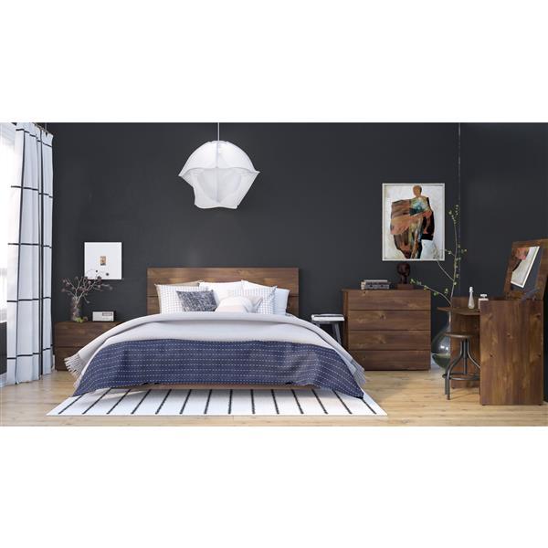Nexera Karibou 5 Piece Truffle Queen Bedroom Set