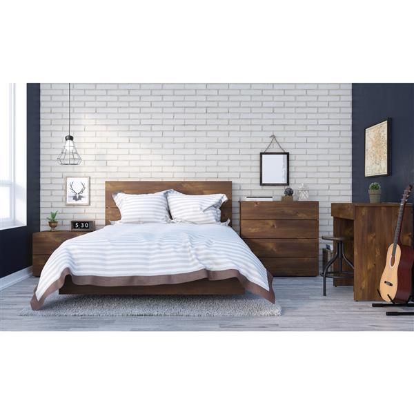 Nexera Karibou 5 Piece Truffle Full Bedroom Set