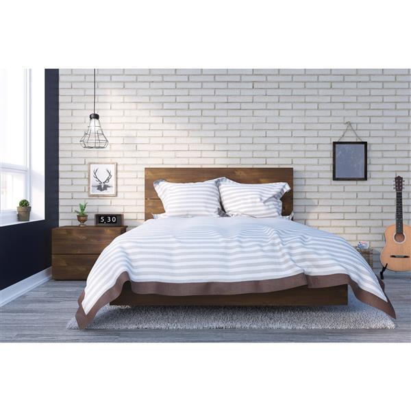Nexera Karibou 3 Piece Truffle Full Bedroom Set