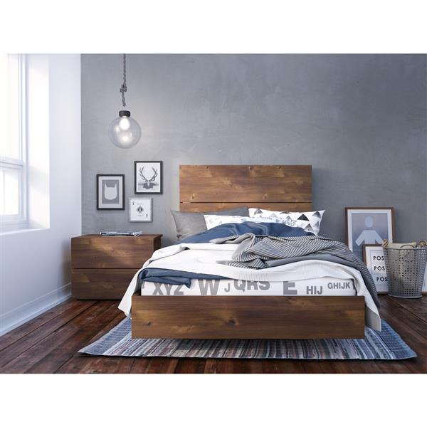 Nexera Karibou 3 Piece Truffle Twin Bedroom Set