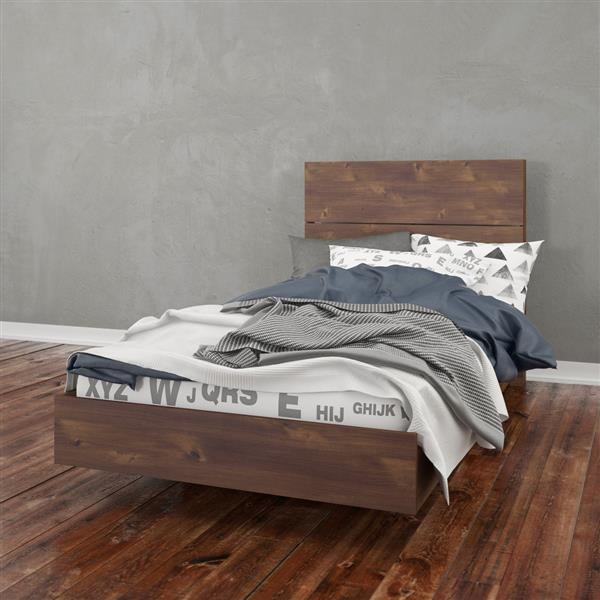 Nexera 2 Piece Truffle Twin Bedroom Set