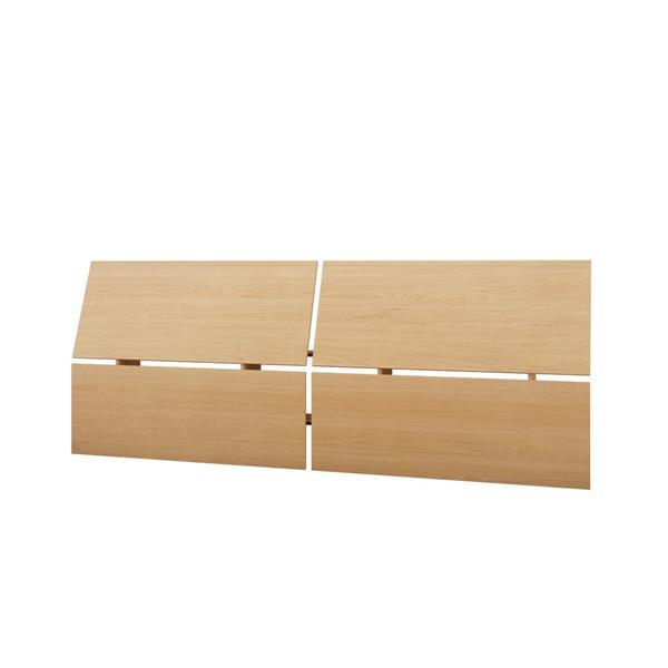 Nexera Muse 4 Piece Black and Maple Full Bedroom Set