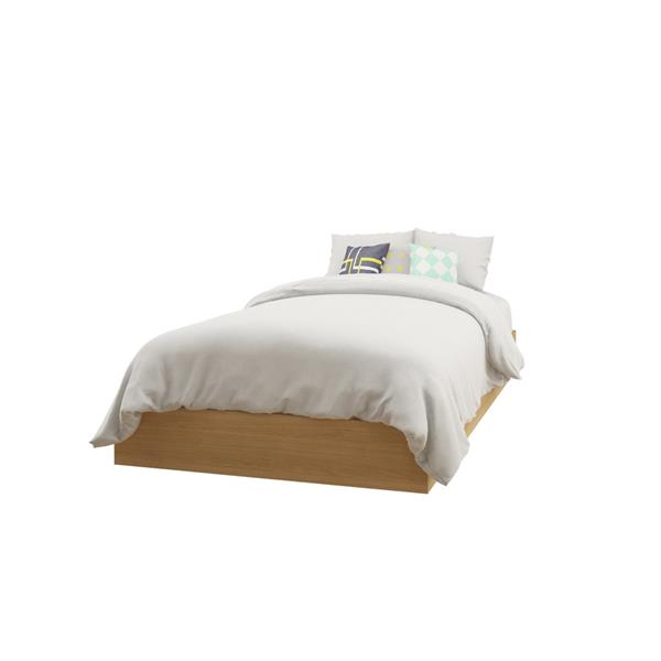 Nexera Muse 3 Piece Black and Maple Twin Bedroom Set