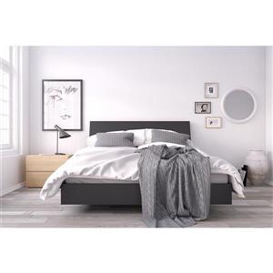 Karla 3 Piece Black and Maple Queen Bedroom Set