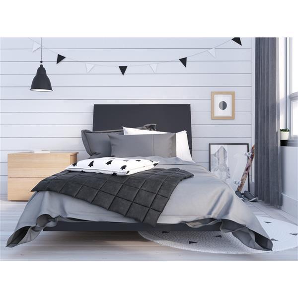Nexera Karla 3-Piece Black/Maple Twin Bedroom Set