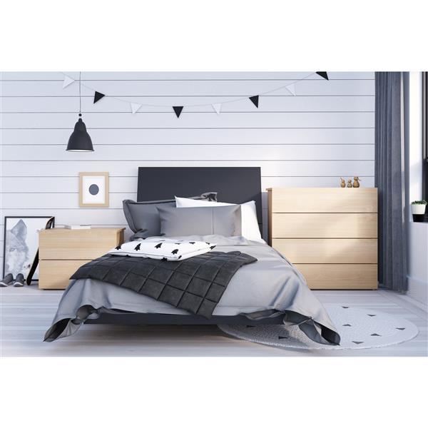 Ens. de chambre à coucher Karla simple, 4 mcx, balnc/érable