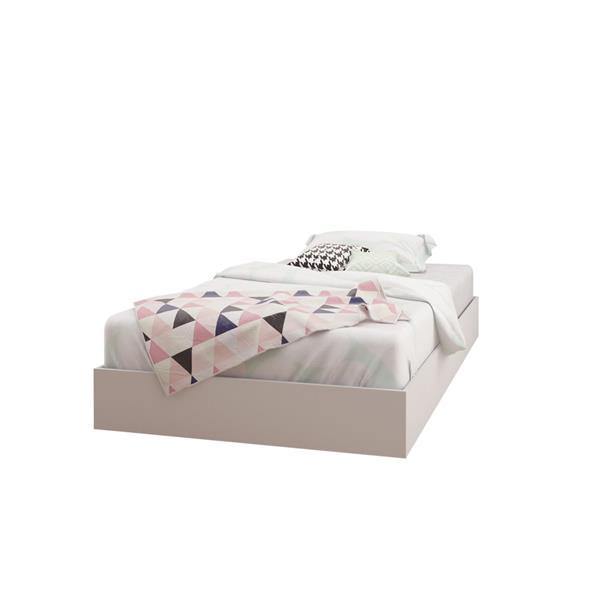 Ens. de chambre à coucher Esker simple, 3 mcx, balnc/érable