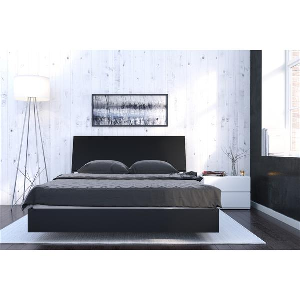 Nexera Ocra 3 Piece Black and White Queen Bedroom Set