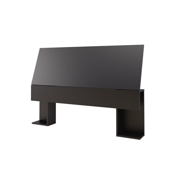 Nexera Ocra 4 Piece Black and White Full Bedroom Set