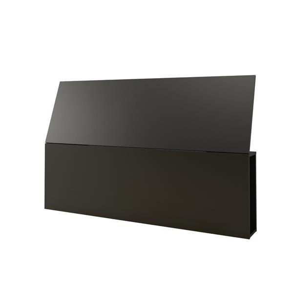 Nexera 2 Piece Black Queen Bedroom Set